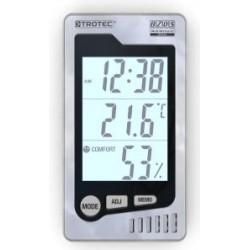 Trotec BZ 05 Páratartalom és hőmérséklet mérő - órával, ébresztő funkcióval