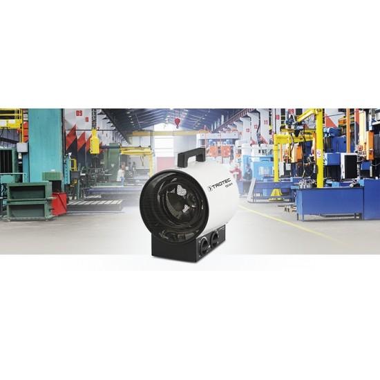Trotec TDS 20 R 3 kW Elektromos hősugárzó, hőlégfúvó - optimális kerek forma