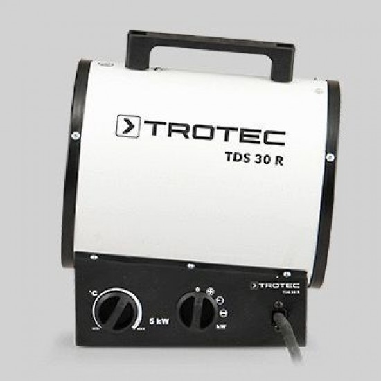 Trotec TDS 30 R 5 kW Elektromos hősugárzó, hőlégbefúvó-kerek forma, kábellel együtt