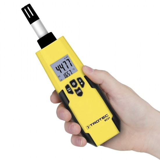 Trotec BC 21 Páramérő, hőmérő, harmatpont, nedves hőmérséklet mérés